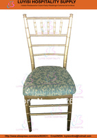 Gold Aluminum Chiavari Chair Light In Weight Easy To Carry And Storage Paint Coating With UV