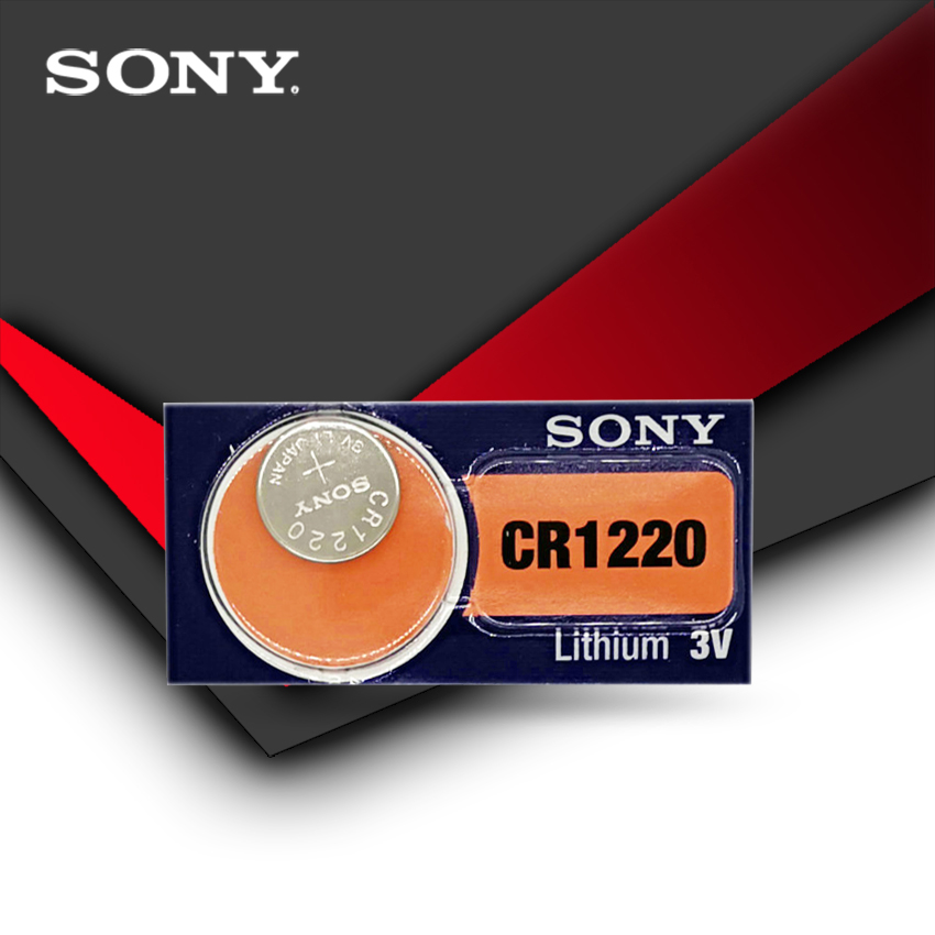1pc/lot Sony 100% Original CR1220 Button Cell Battery For Watch Car Remote Key Cr 1220 ECR1220 GPCR1220 3v Lithium Battery
