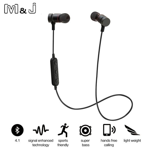 121500e0143 M&J HT9 Bluetooth Headphones Sport Running With Mic Earbud Wireless Earphones  Bass Bluetooth Headset For iPhone Xiaomi mp3