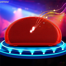DEYIOU Super Bass Mini Portable Bluetooth Handsfree Wireless Speaker With Light For Samsung For HTC For Sony or Smartphones
