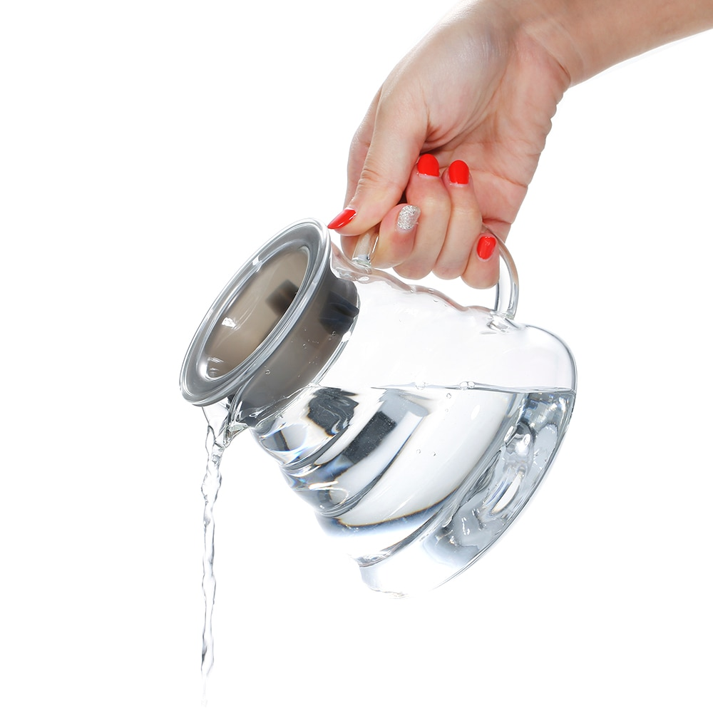 600ml Coffee Maker Glass Pot Teapot Heat-resistant High Temperature Coffee Pot Family Teapot Glass Tea Set
