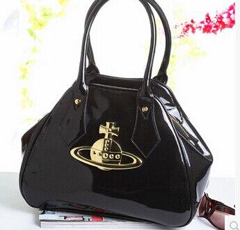 Ic Brand Designer Women S Small Size Bowling Bag England Style Balck Orb Logo Handbag