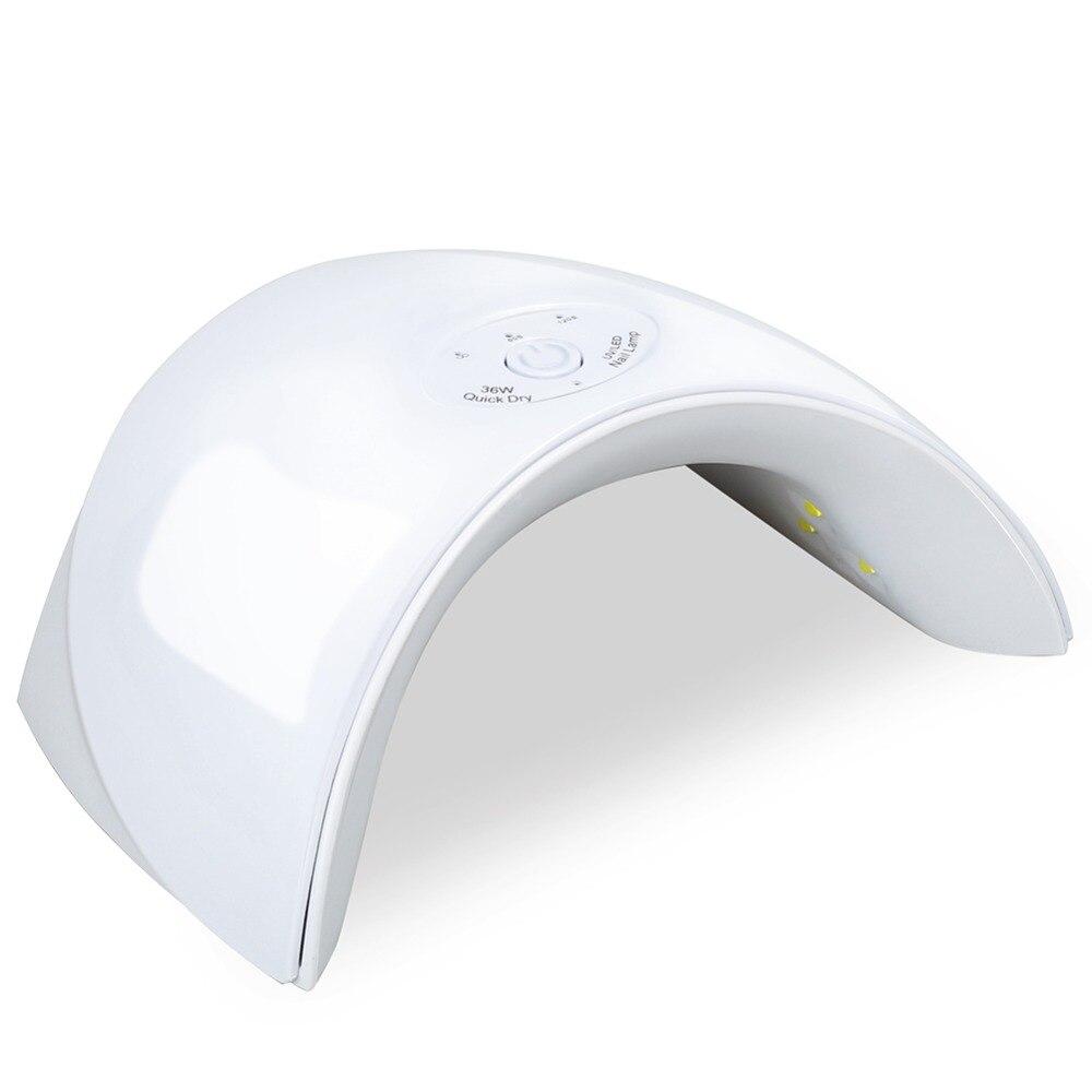 купить Nail Dryer 36W LED Lamp Nail Dryer 12LEDs For Curing All Gels Manicure Nail Art Gel Polish Varnish Quick UV&LED Nail Lamp по цене 481.42 рублей