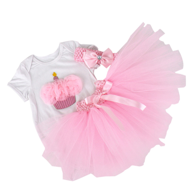 e6073cc24666 Aliexpress.com   Buy 3PCs per Set Baby Girls  Pink Cupcake Birthday ...