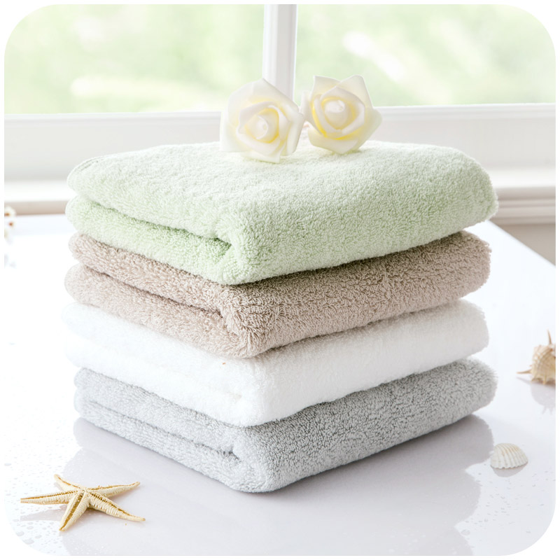 Japanese Linen Towel: Japanese Fresh Light Colored Cotton Thick Large Towels