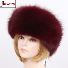 2019 Women Winter Natural Real Fox Fur Hat 100 Real Fox Fur Cap Quality Russia Warm Real Fox Fur Caps Real Fox Fur Bomber Hats cheap LLHPBFUR Adult Solid Flawers-108 100 Real natural fox fur adjustable suitable for everyone
