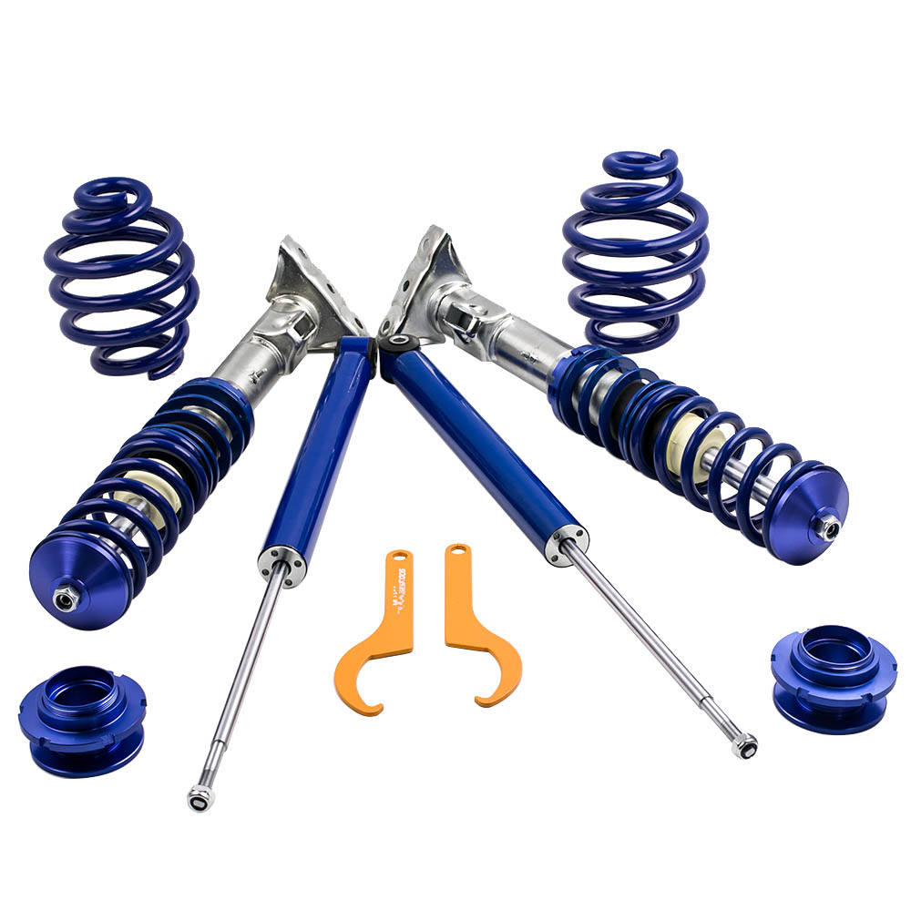 Adjustable Suspension Coilover Kit for BMW E36 Cabrio Coupe Coilovers Shock Blue 1997 1998 1999 2000 Spring Strut Strut