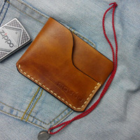 Handmade Real Leather Drivers License Wallet Minimalist Genuine Leather Men Cardholder Portomonee Case To Protect Credit