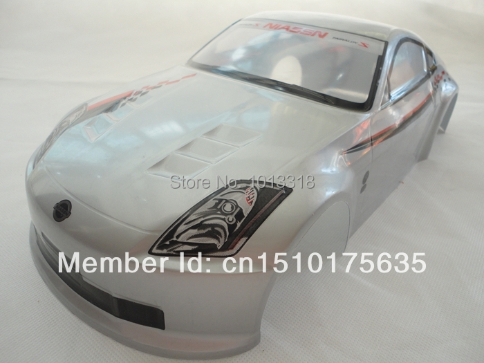 ФОТО 190mm pvc painted  body shell for 1:10 1/10 rc car item no 05  silver 2pcs/lot free shipping