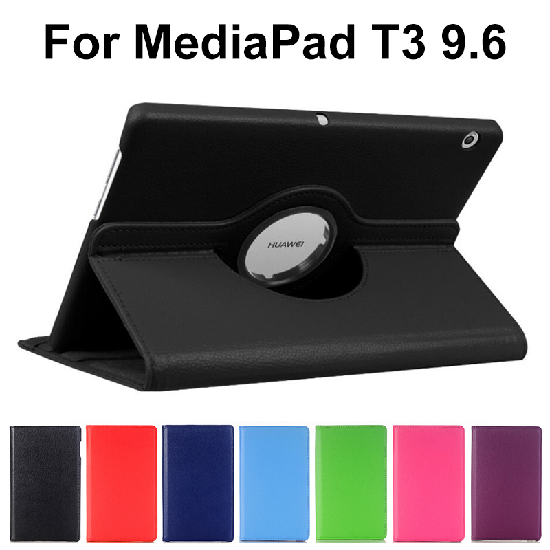 360 Rotating Case For Huawei Mediapad T3 10 9.6 AGS-L09 AGS-L03 Pu Leather Stand Smart Cover For Honor Play Pad 2 9.6 Inch
