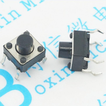 100PCS/Lot 6 * 6 * 6MM Pin Button 6 * 6 * 6 Four-foot Plug Micro Switch image