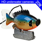 Fashion appearance video 20M underwater camera high resolution 2pcs 3W stonger brigh white lights LED night vision fish fisher