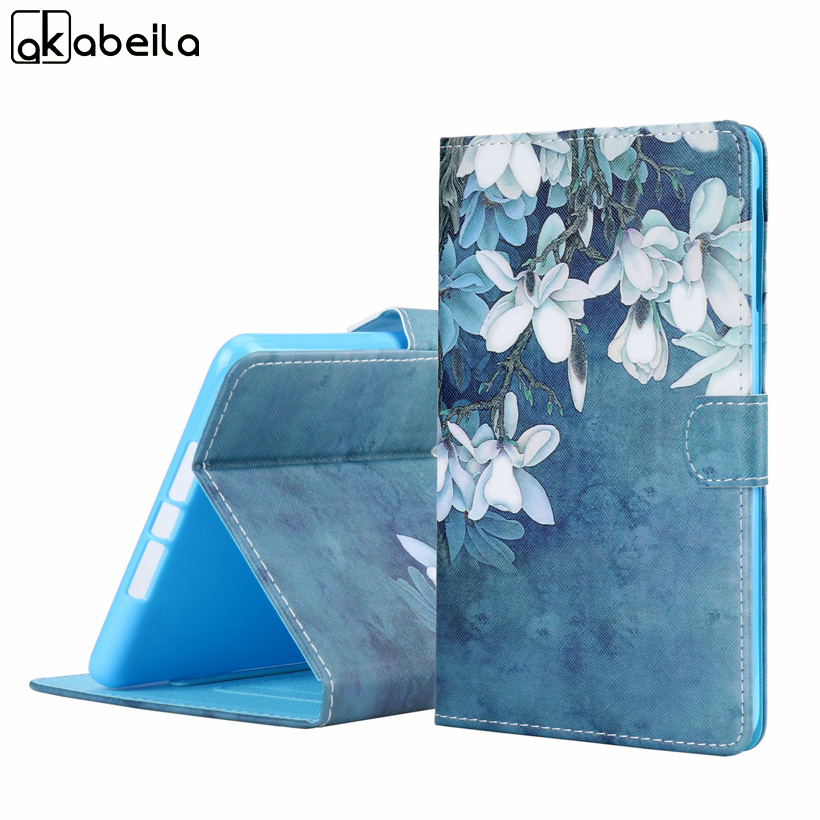 Ultra Thin Stand Case For Samsung Galaxy Tab A 7.0 2016 A6 Cover Pattern PU Leather Cover For T280 T285 7