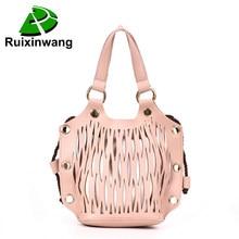793adb53b7 Summer Travel Beach Bag Women Net Bag Luxury Designer Bucket Handbags  Fashion Hollow Out Leather Messenger