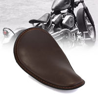 Brown Synthetic Leather Motorcycle Solo Driver Seat For Harley Sportster 883 1200 XL Bobber Cafer