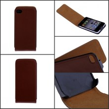 Luxury Genuine Real Leather Case Flip Cover Mobile Phone Accessories Bag Retro Vertical For Apple iphone4 4S PS(China)