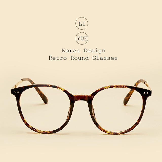 Liyue de vidrios ópticos Marcos anteojos femeninos Marcos s gafas redondas  metal clásico piernas retro lente a5994f3c4ba3