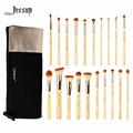 Jessup  20pcs Beauty Bamboo Professional Makeup Brushes Set T145 & Cosmetics Bags Women Bag CB002
