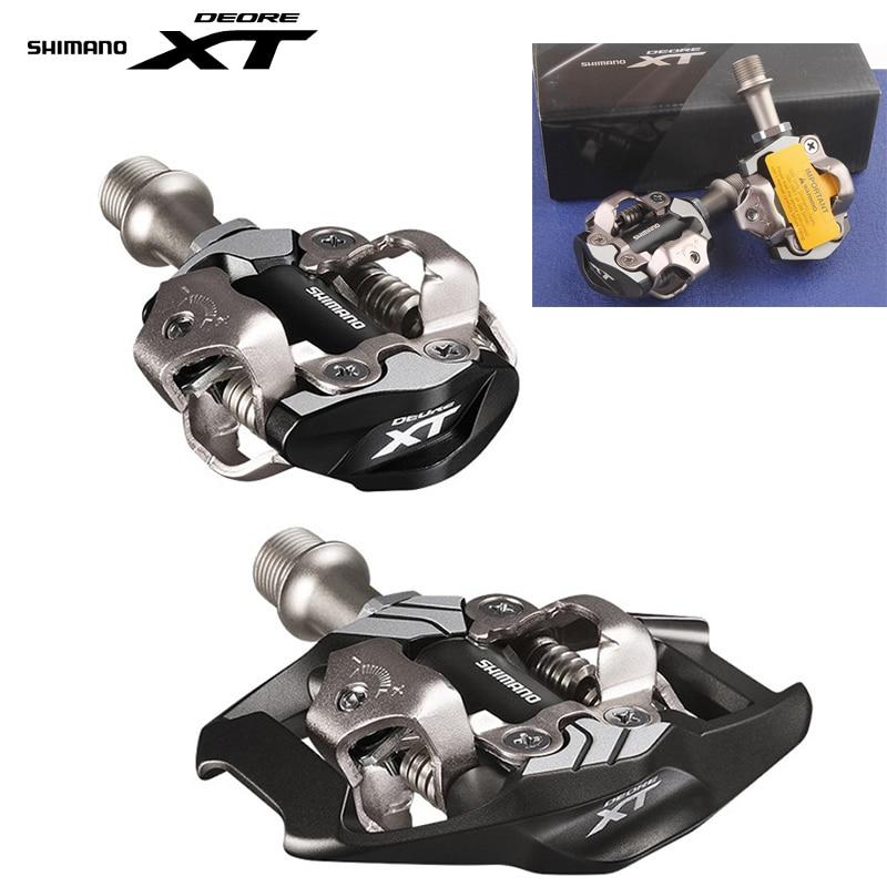 цена Shimano DEORE XT PD-M8000 m8020 Self-Locking SPD Pedals MTB Bicycle Racing Bike SPD Race Pedals онлайн в 2017 году