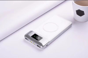 Image 3 - 2020 ไร้สาย 30000 mAh Bank Built in Wireless Charger Powerbank ชาร์จแบบพกพาสำหรับ iPhone8 X note9