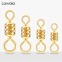 Lawaia Competitive Eight-character Fishing Line Set Gadgets Gold-plated Embossed Eight-word Ring High-speed Mother Rings