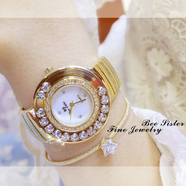 2017 Brand Women Bracelet Watches Fashion Luxury Lady Rhinestone Wristwatch Ladi