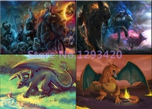 Dinosaur Full Diamond embroidery 5d diy diamond painting Pictures rhinestones Mosaic cartoon drill