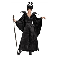 Hot Witch Costume Masquerade Queen Costume Adult Women's Sexy Adult Witch Long Black Dress in Halloween Carnival Costume Party