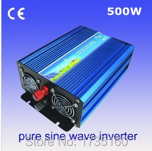 ФОТО Onde sinusoIdale pure onduleur solaire Peak Power 1000W Solar Inverter 500W Pure Sine Wave Car Power Inverter DC 12V to AC 220V