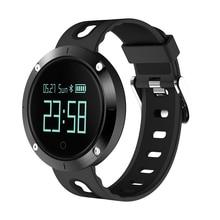 2017 Nueva Pantalla Táctil DM58 IP67 Del Ritmo Cardíaco Reloj Inteligente A Prueba de agua La Presión Arterial Fitness Sports Tracker Reloj para IOS Android