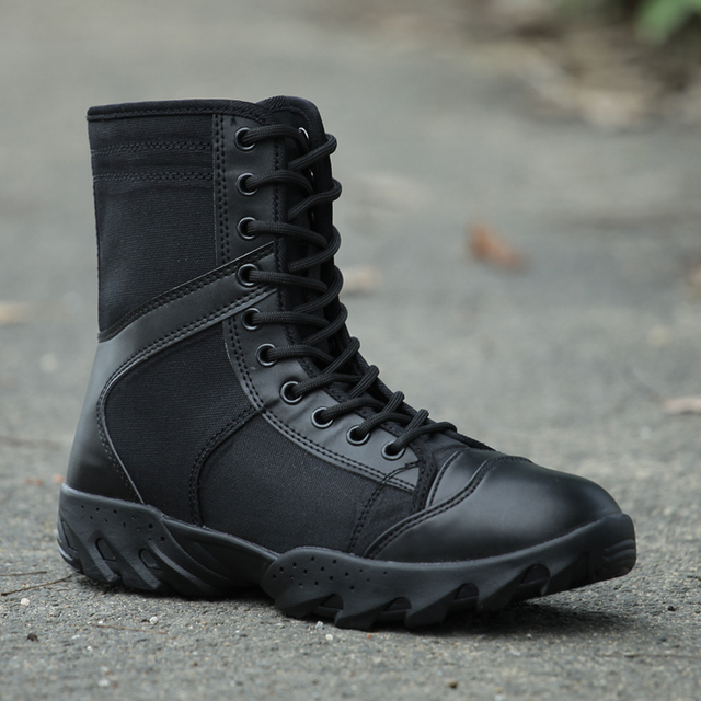 American military shoes Army boot Tactical boots men Slip hiking travel  bota Climbing shoes Black High quality man rubber soles e48041f41
