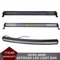 4D 5D 42 Inch 400W Straight 5D 43 Curved LED Work Light Bar For Car Tractor