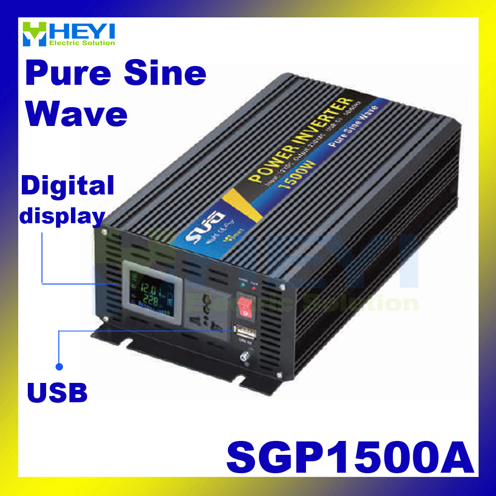 New type Smart Series Pure Sine Wave Inverter 1500W with USB input 12VDC 24VDC 48VDC output 110VAC 220VAC inverter with charger