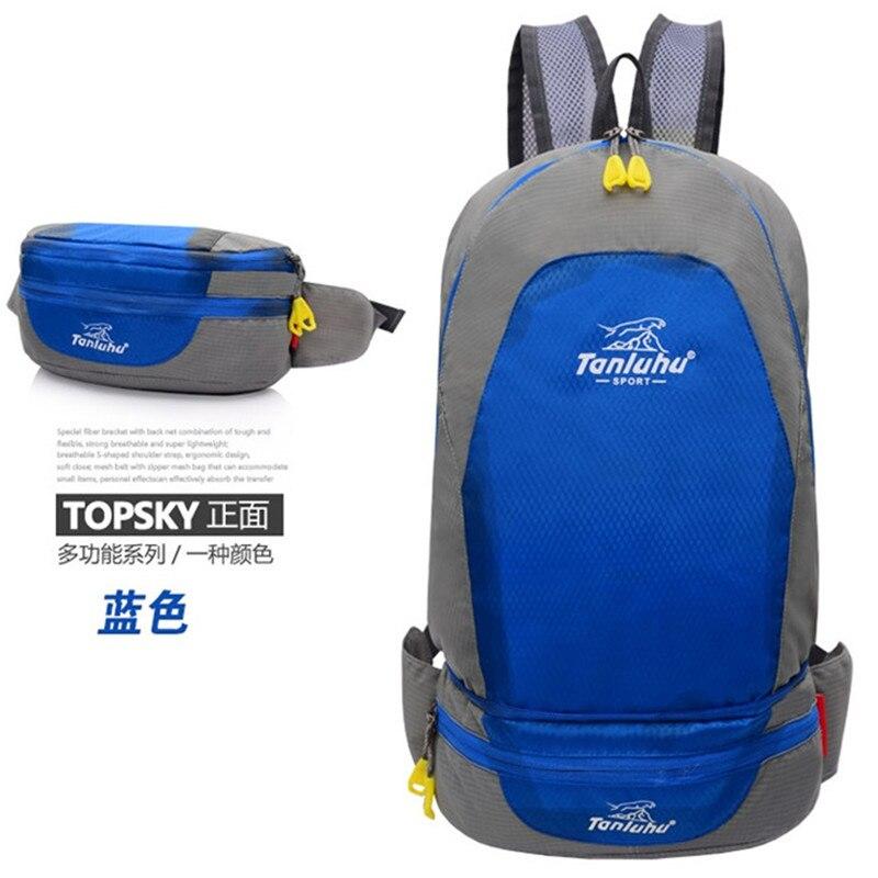 Sports Bag Foldable Backpack TANLUHU 637 Nylon Outdoor Climbing Hiking Backpack Running Waist Bag