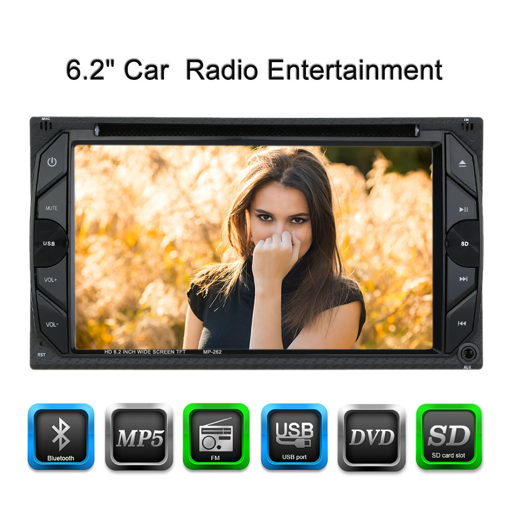 Universal 6.2 Inch Car Electronic Autoradio 2 din Car DVD CD Player for Volkswagen golf 5 opel astra h vw конверты hama для cd dvd бумажные с прозрачным окошком белый 25шт h 51060