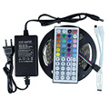 Led Strip 5050 RGB 300Leds Flexible LED Tape IP44 Non-waterproof + 44 Key IR Remote RGB Controller +12V 3A 36W Power Adapter