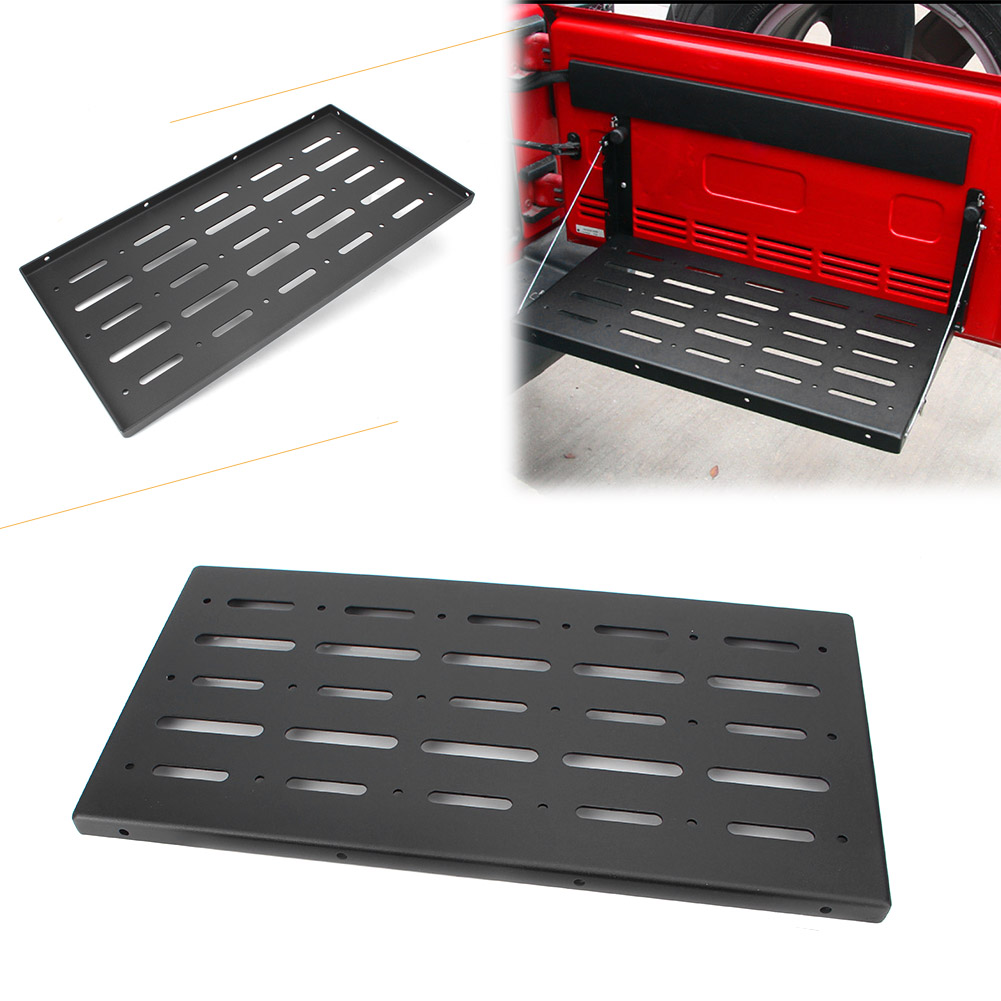Car Foldable Tailgate Table Cargo Shelf Carrier Support for Jeep Wrangler 2007 2017 Automobile Spare Parts Accessories