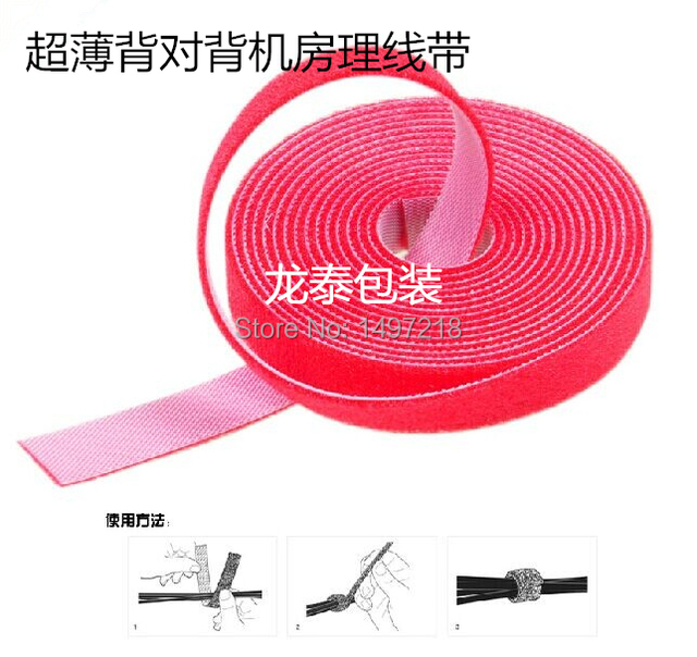 3899b93f7d87 Freeshipping 5cmx5m/roll ultra thin magic tape cable tie nylon strap Power  Wire Management Magic Tape Sticks Hook & Loop Tape