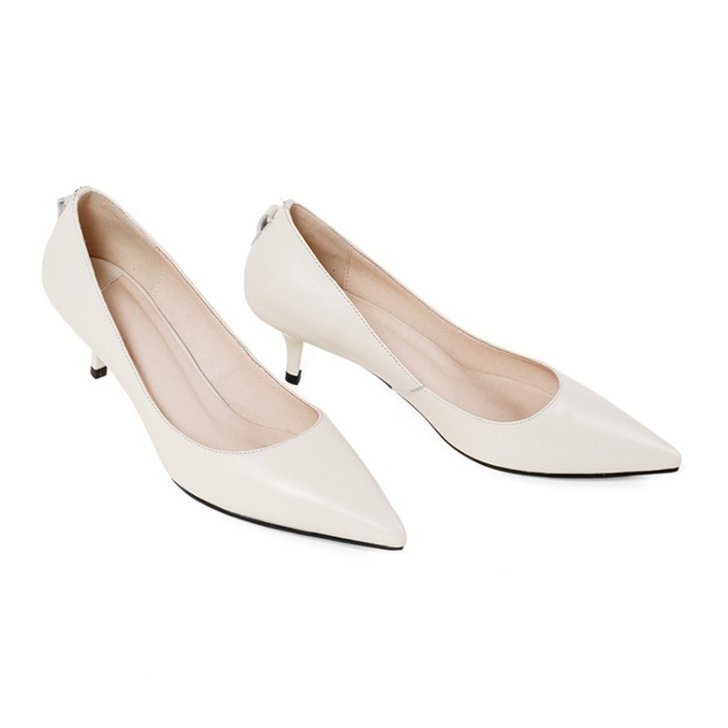 2019 spring and autumn new single shoes pointed stiletto heel three kinds of wearing womens shoes beige 04282019 spring and autumn new single shoes pointed stiletto heel three kinds of wearing womens shoes beige 0428