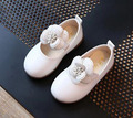 girls shoes mary jane flower white pink blk for 2-6 years kids PU first walker shoes princess shoes flower girls shoes wedding