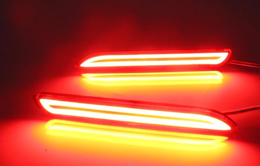 eOsuns светодиодные задние бампера света, фары дальнего света, скользящего стоп-сигнал, для 2007-15 Тойота reiz, Сиенна 2013-15, беспроводной переключатель