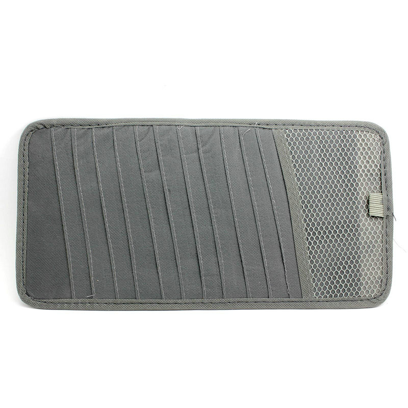 1Pc Gray Color 12 Slot CD DVD Disc Storage Pouch Bag Holder Case for Car Sunshade Vehicle Visor thumbnail