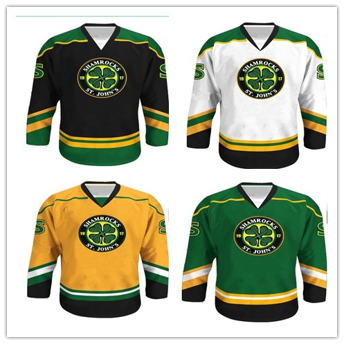 98a13fee4 Rare Vintage Boss Rhea ST John s Shamrocks Hockey Jersey Embroidery Stitched  Customize any number and name