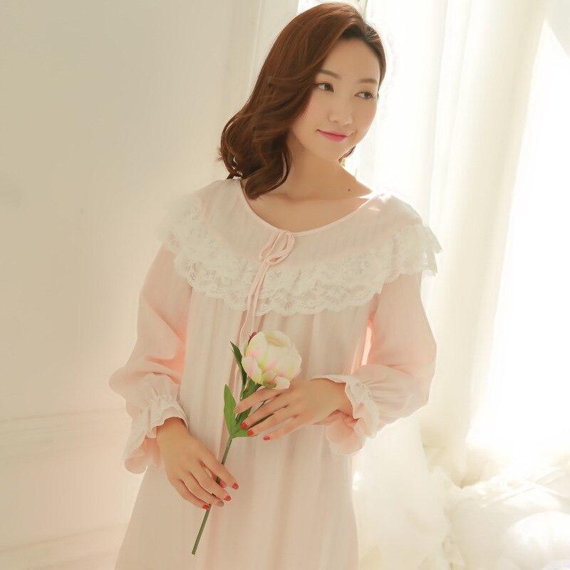New Arrival Ruffles Nightgowns Sleepshirts Lace Sleepwear Long ...