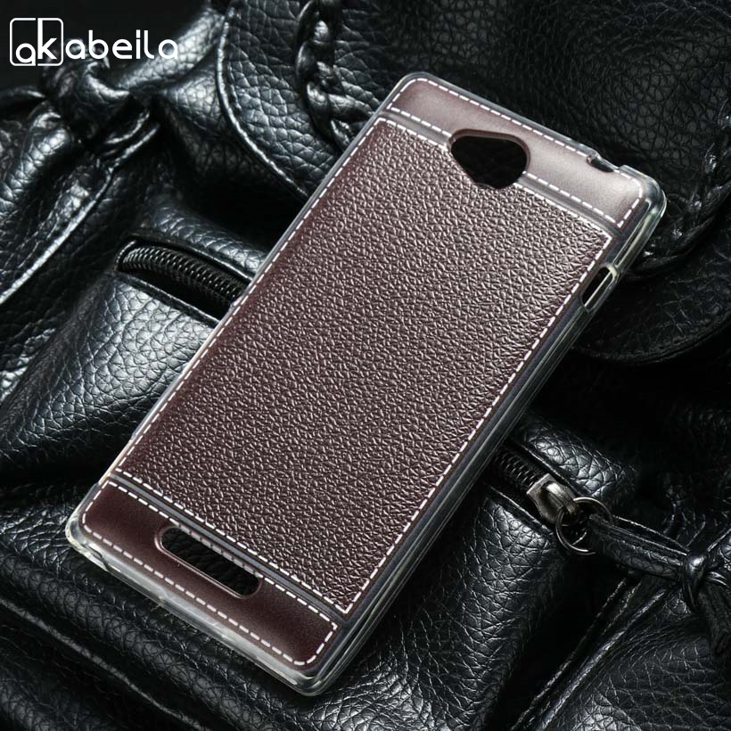 AKABEILA Silicone Phone Cover Case For Sony Xperia C S39h C2305 5.0 inch Case So