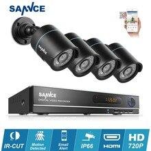 Оформление продажи! Sannce 8-КАНАЛЬНЫЙ 1080 P HD 960 H hdmi DVR наблюдения комплекты 4 шт. 1080 P CCTV Камеры ИК-Открытый Дом, безопасности CCTV комплект