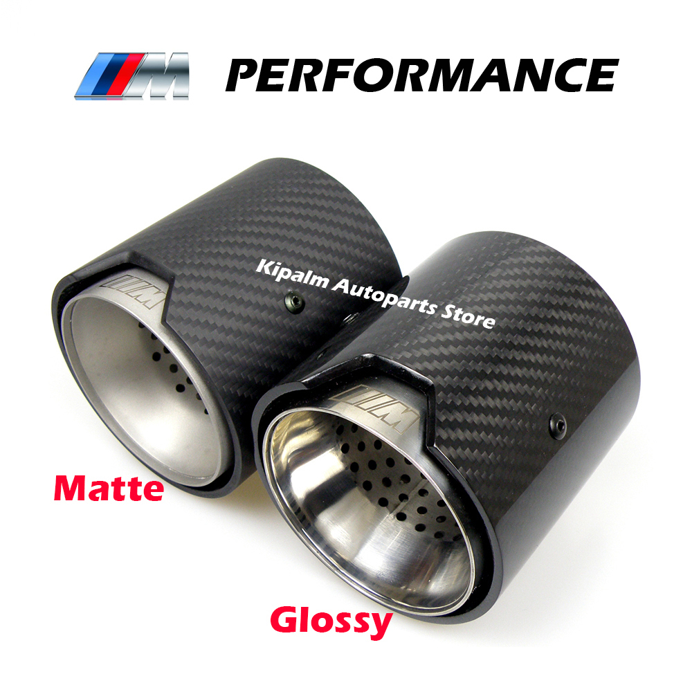63mm Glossy//Matte Real Carbon Fiber Auto Car Modified Muffler Pipe  Exhaust Tip