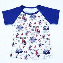Summer Twin Boy Girl Ahoy Tee Shirt
