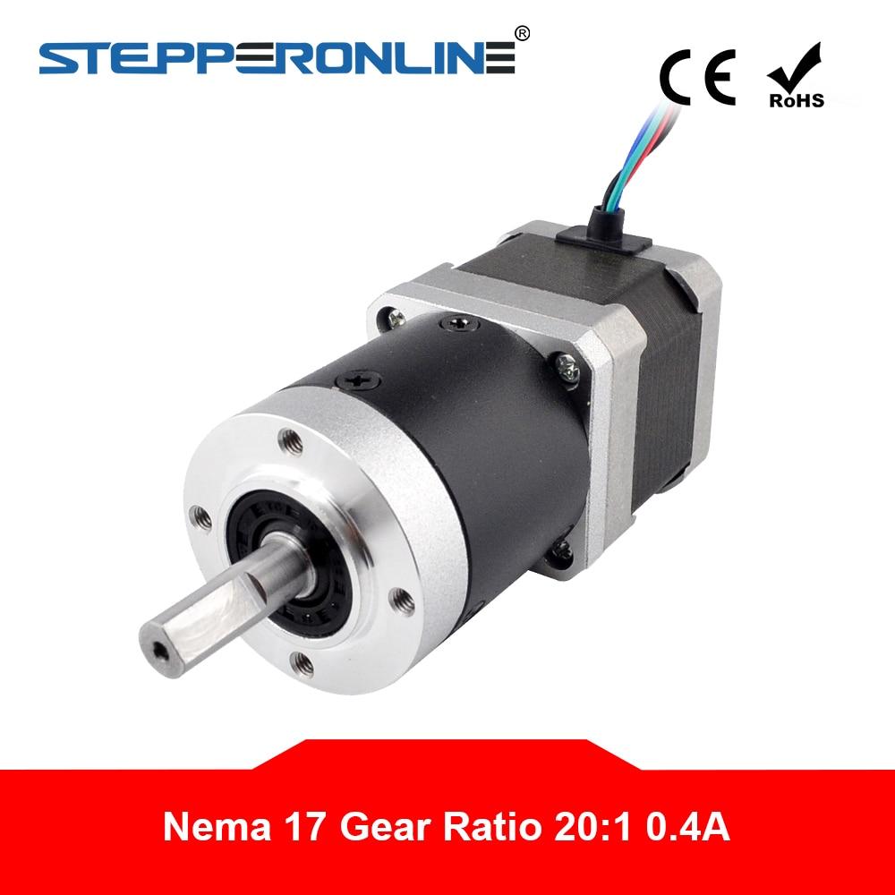20:1 High Precision Nema 17 Planetary Gearbox Reducer 42 Motor Nema17 Gear Stepper Motor 0.4A 4 lead L=39mm-in Stepper Motor from Home Improvement    1