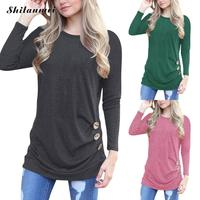 Women 2017 Autumn Cotton Causal T Shirt Femme Long Sleeve O Neck Fashion Women T Shirt